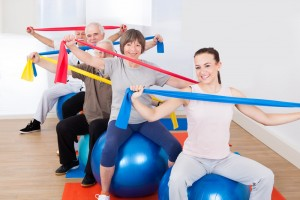 Group resistance band exercises